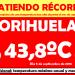 ¡Récord de temperatura máxima en Orihuela durante un mes de Septiembre!