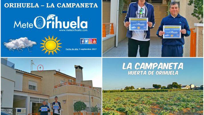 Estación Meteorológica en La Campaneta